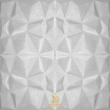 Painel 3D Geométrico Branco Auto Adesivo 70x70 - Ref. 380000076
