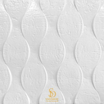 Painel 3D Ondulado Branco Auto Adesivo 35x35 - Ref. 3800000Q4