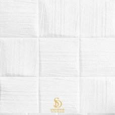 Painel 3D Texturizado Branco Auto Adesivo 35x35 - Ref. 3800000Q3