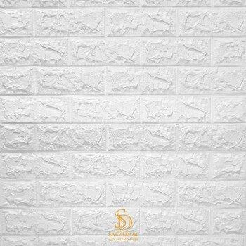 Painel 3D Tijolo Branco Auto Adesivo 69x77 - Ref. 380000096