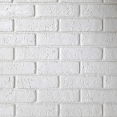 Painel 3D Tijolo Alto Relevo Branco Auto Adesivo 70x77 - Ref. 380000075