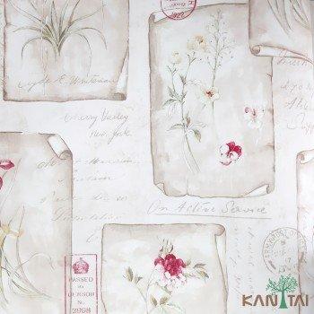 Papel de Parede Flores, Letras Sidney II REF:SY120020R