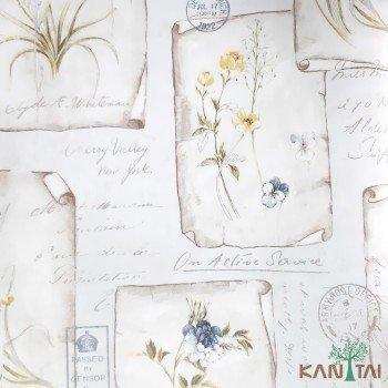 Papel de Parede Flores, Letras Sidney II REF:SY120030R