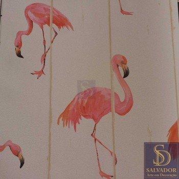 Papel de parede Flamingos Stone Age 2 Ref. SN604301