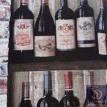 Papel de parede Garrafas de vinho Stone Age 2 Ref. SN604601