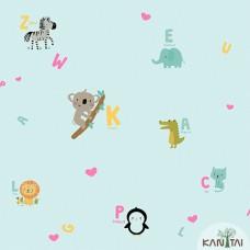 Papel de Parede Animais, Letras Yoyo Ref.YY222501R