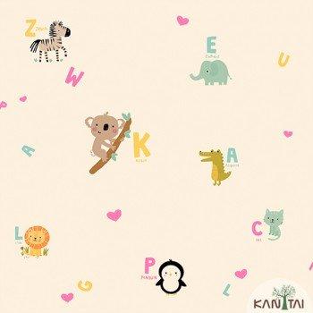 Papel de Parede Animais, Letras Yoyo Ref.YY222502R