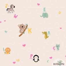 Papel de Parede Animais, Letras Yoyo Ref.YY222503R