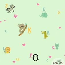 Papel de Parede Animais, Letras Yoyo Ref.YY222504R