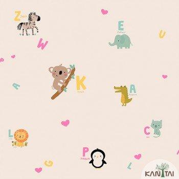 Papel de Parede Animais, Letras Yoyo Ref.YY222505R