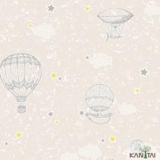Papel de Parede Balão, Estrela, Nuvem Yoyo Ref.YY222701R
