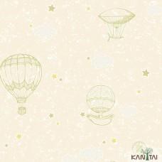 Papel de Parede Balão, Estrela, Nuvem Yoyo Ref.YY222702R