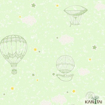 Papel de Parede Balão, Estrela, Nuvem Yoyo Ref.YY222704R