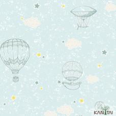 Papel de Parede Balão, Estrela, Nuvem Yoyo Ref.YY222705R